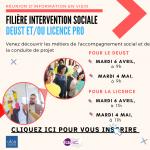 Filière Intervention Sociale : Réunions d'informations en visio